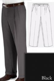 and Tall Dress Pants Slacks For Men Black unhemmed unfinished bottom