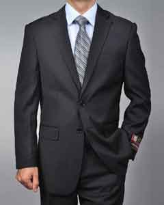 Black 2-button 2 Piece Suits - Two piece Business suits Suit