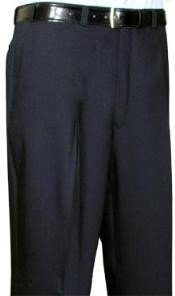 Summer Light Weight Black Flat Front Pant  - Cheap Priced
