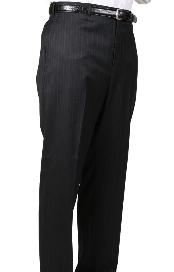 Stripe Somerset Pleated Trouser unhemmed unfinished bottom