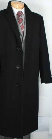 Coat Black Cashmere Blended
