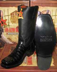 Altos Black Crocodile ~ Alligator ~ Gator Skin Belly Western Cowboy