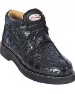Gator Skin Mens Casual Belvedere Mazlan Black Shoes~Genuine Ostrich crocodile Skin~World Best Alligator