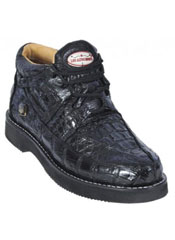 Black Genuine All-Over Crocodile ~ World Best Alligator ~ Gator Skin Casual Shoes