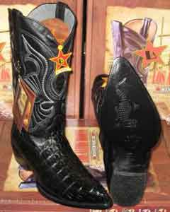 Los Altos Black Genuine Crocodile ~ World Best Alligator ~ Gator Skin Tail Western Cowboy Boot