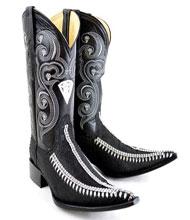 "New Reg: $795 discounted sale clearance diamonds Boots Original Leather ""3x-Toe"" Rhinestone Fashion Boots"