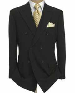 Double Breasted Suit Jacket + Pleated Pants Super 140s 100% Wool