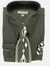 Black Dress Shirt Combinations  Tie Set