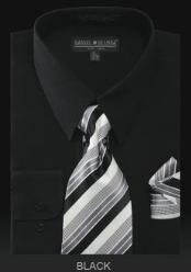 TIE - Black Mens Dress Shirt