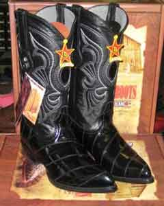Black Genuine Eel Western