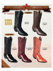 Los Altos Black Genuine Eel Western Cowboy Boot