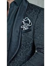 black floral designed Single