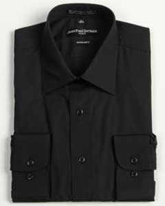 Black Convertible Cuff Big & Tall Dress Shirt