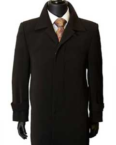 Overcoat Inch Maxi-Length Duster Coat Mens Dress Coat Black Dress Trench