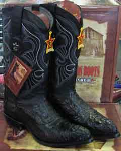 Los Altos Black Genuine Crocodile ~ World Best Alligator ~ Gator Skin Western Cowboy Boot