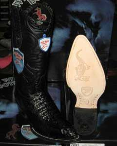 West Black Genuine Crocodile ~ World Best Alligator ~ Gator Skin Western Cowboy Dress Cowboy Boot Cheap