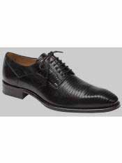 Brand Black Genuine Lizard Shoes