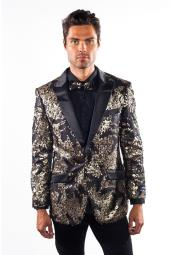 Mens Flashy Shiny Sequin Blazer