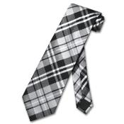 Grey White Design Mens Neck Tie