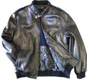 Mens Leather Bomber Jacket Soft Lambskin Black tanners avenue jacket