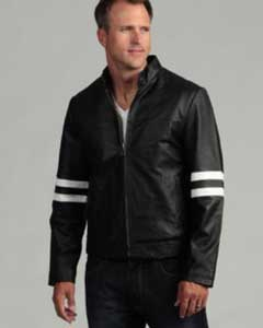 Genuine Leather Moto Jacket Black
