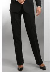 Black Plain Front Polyester Tuxedo Pant