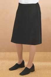 Black Polyester Tuxedo Skirt