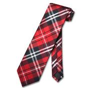 Red White Design Mens Neck Tie