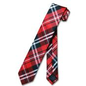"NeckTie Skinny Black Red White Mens 25"" Neck Tie"