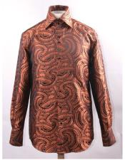 Rust High Collar Fashion