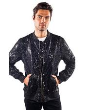 regular fit sequin jacket