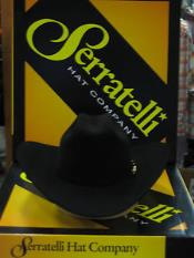 Black Serratelli Designer 4 Brim Western Cowboy Hat
