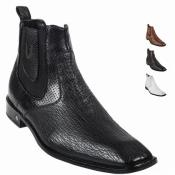 Skin Short Dress Mens Boot – BLACK Ankle Dress Style For