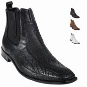 Skin Dressy Mens Boot – Black Ankle Dress Style For Man