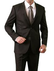 Shiny Shark Skin Solid 2 Button Front Closure Slim Fit Suit