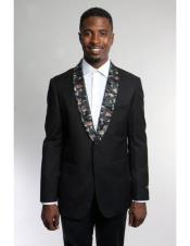 Mens Black Fashion Stage Blazer ~ Sport coat