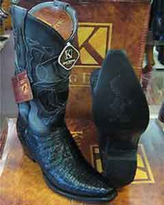 Exotic Black Snip Toe Genuine Crocodile Western Cowboy Dress Cowboy Boot