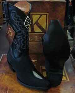 Leather piping Western Cowboy Dress Cowboy Botas