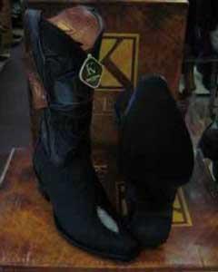 King Exotic Boots Black Genuine Stingray mantarraya skin Snip Toe Western Cowboy