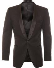 Modern Fit Black Tonel Snake Pattern Ostrich looking Dinner Jacket & Blazer