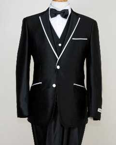 Mens Designed Black Two Button Tuxedos