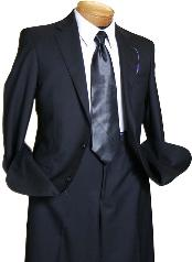 Black 2 Button Wool Italian Design Suit