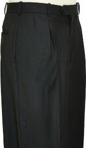 Wide Leg Slacks Pleated baggy dress trousers unhemmed unfinished bottom