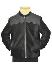 Black Zipper Genuine Hornback
