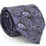 Black & Purple Classic P A I S L E Y