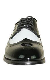 Jean Yves Dress Shoe Wing Tip Two-Tone Tuxedo for Wedding