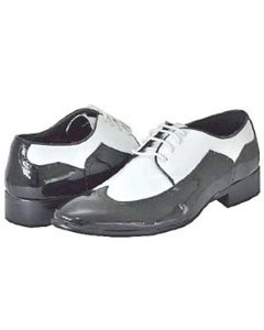 Mens Black White Dress Shoes