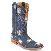 Blue Jean 3X Toe Denim Boot