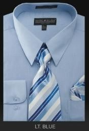 Dress Shirt - PREMIUM TIE - Light Blue