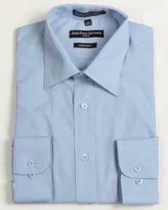 Medium Blue Convertible Cuff Big & Tall Shirt 18 19 20 21 22 Inch Neck Mens Dress Shirt